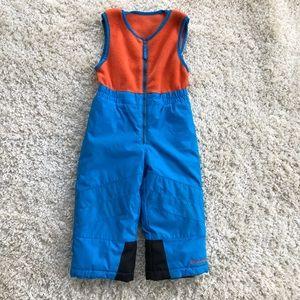 Columbia Toddler Zip Fleece Top Bib Snowpants EUC